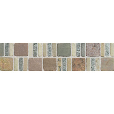 American Olean Tumbled Stone Accents Stepping Stone Border