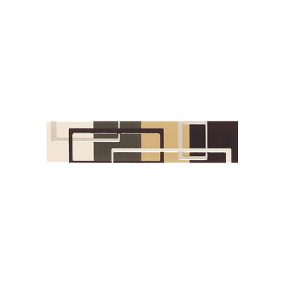American Olean Urban Canvas Decorative Trim Circuit Brown