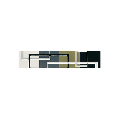 American Olean Urban Canvas Decorative Trim Circuit Multicolor