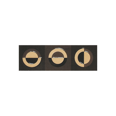 American Olean Urban Canvas Decorative Trim Galaxy Brown-Capp