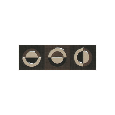 American Olean Urban Canvas Decorative Trim Galaxy Brown-Mush