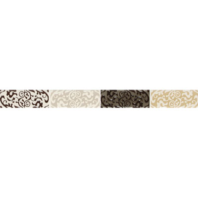 American Olean Urban Canvas Decorative Trim Henna Brown