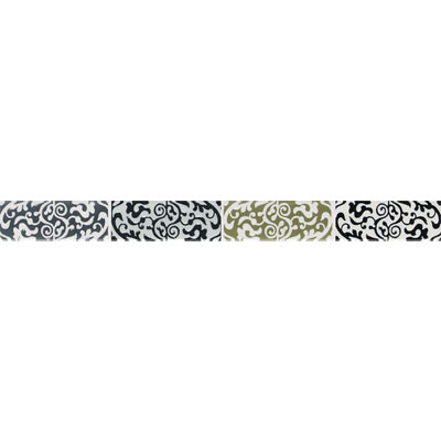 American Olean Urban Canvas Decorative Trim Henna Gray