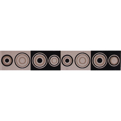 American Olean Urban Canvas Decorative Trim Zodiac Brown