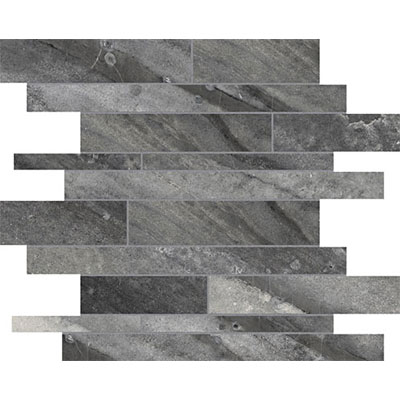 Anatolia Tile & Stone Evolution HD Random Strip Mosaic Carbon