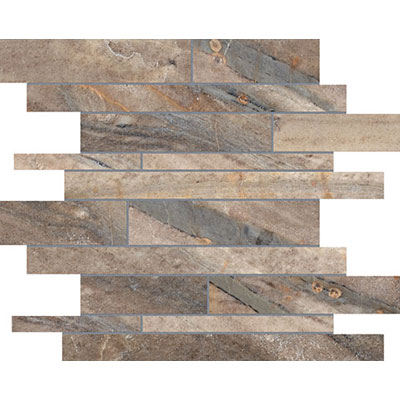 Anatolia Tile & Stone Evolution HD Random Strip Mosaic Earth