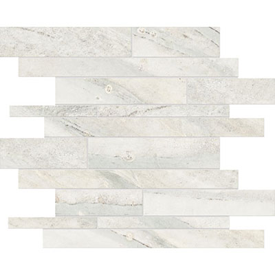 Anatolia Tile & Stone Evolution HD Random Strip Mosaic Ice