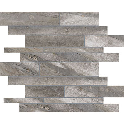 Anatolia Tile & Stone Evolution HD Random Strip Mosaic Mica