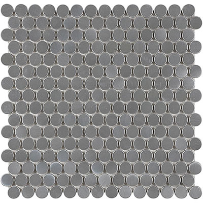 Anatolia Tile & Stone Stainless Steel Interlocking Mosaic Penny Round