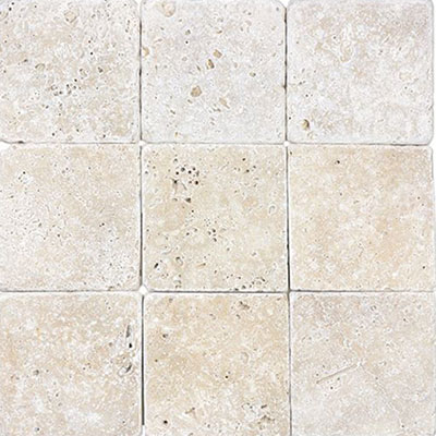 Anatolia Tile & Stone Travertine 4 x 4 Ivory