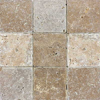 Anatolia Tile & Stone Travertine 4 x 4 Noce