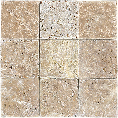 Anatolia Tile & Stone Travertine 4 x 4 Rustic Expresso