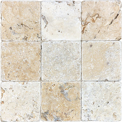 Anatolia Tile & Stone Travertine 4 x 4 Picasso