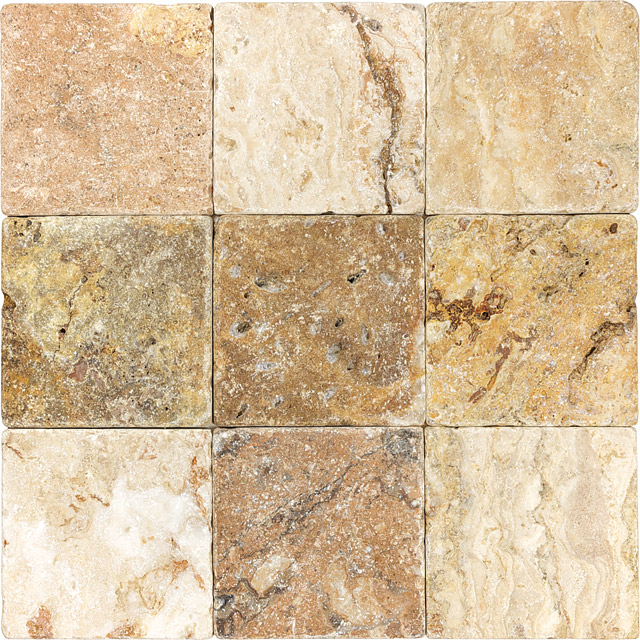 Anatolia Tile & Stone Travertine 4 x 4 Scabos