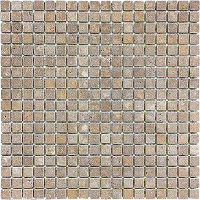 Anatolia Tile & Stone Travertine Mosaic 5/8 x 5/8 Noce