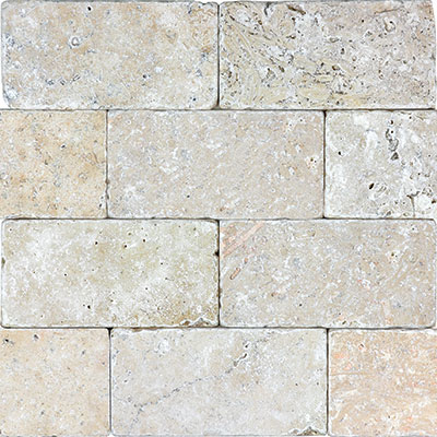 Anatolia Tile & Stone Travertine 3 x 6 Rustic Ivory