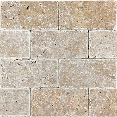 Anatolia Tile & Stone Travertine 3 x 6 Rustic Expresso