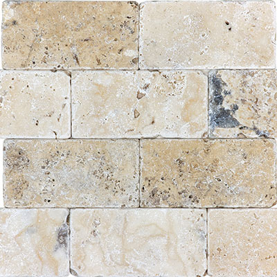 Anatolia Tile & Stone Travertine 3 x 6 Picasso