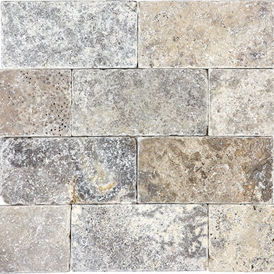Anatolia Tile & Stone Travertine 3 x 6 Silver Ash
