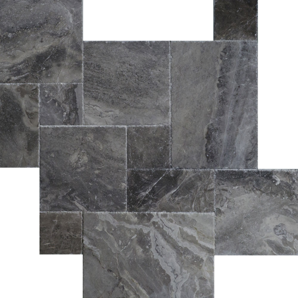 Atlantic Stone Source Marble French Pattern Silver Grey