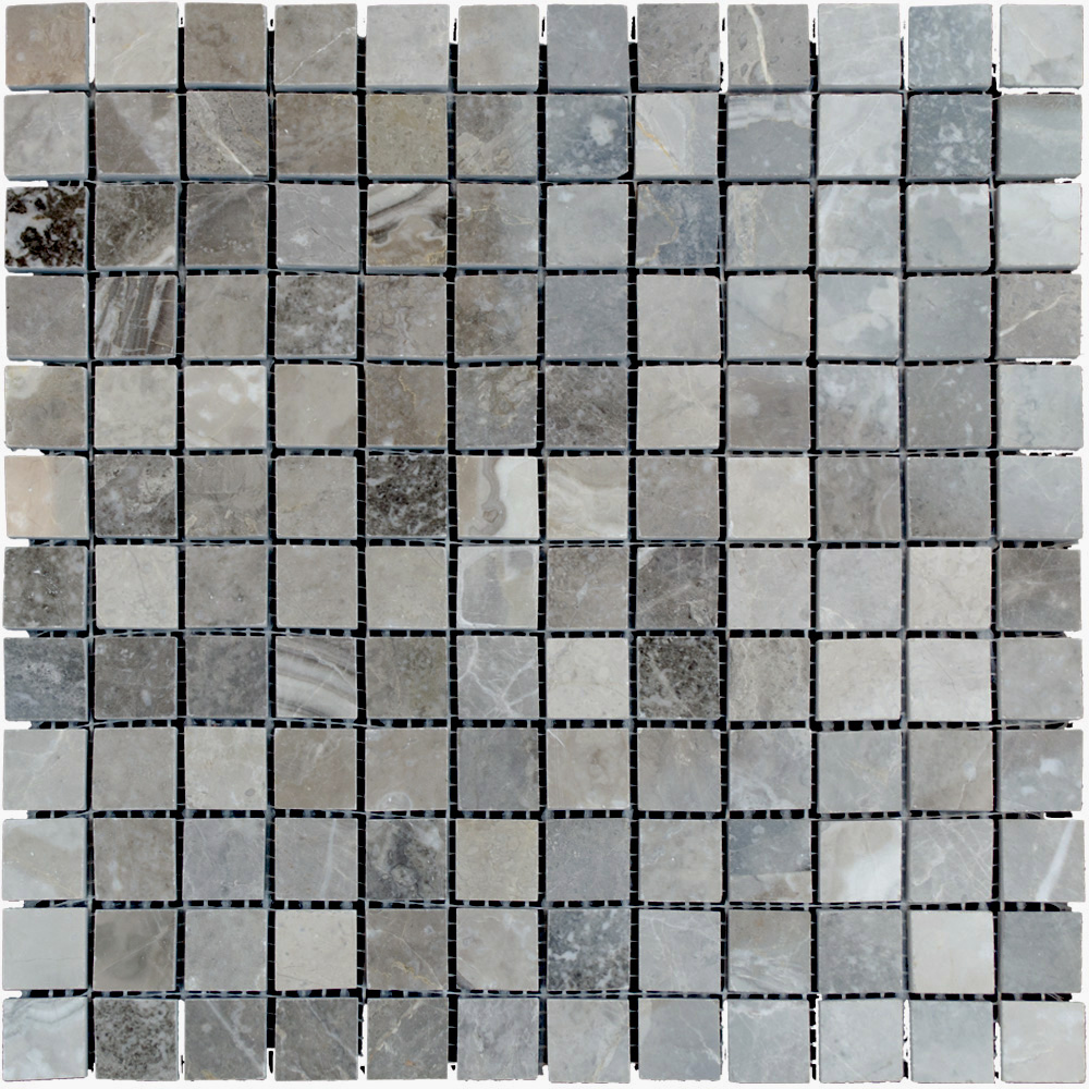 Atlantic Stone Source Mosaics Marble 1 x 1 Polished Silver