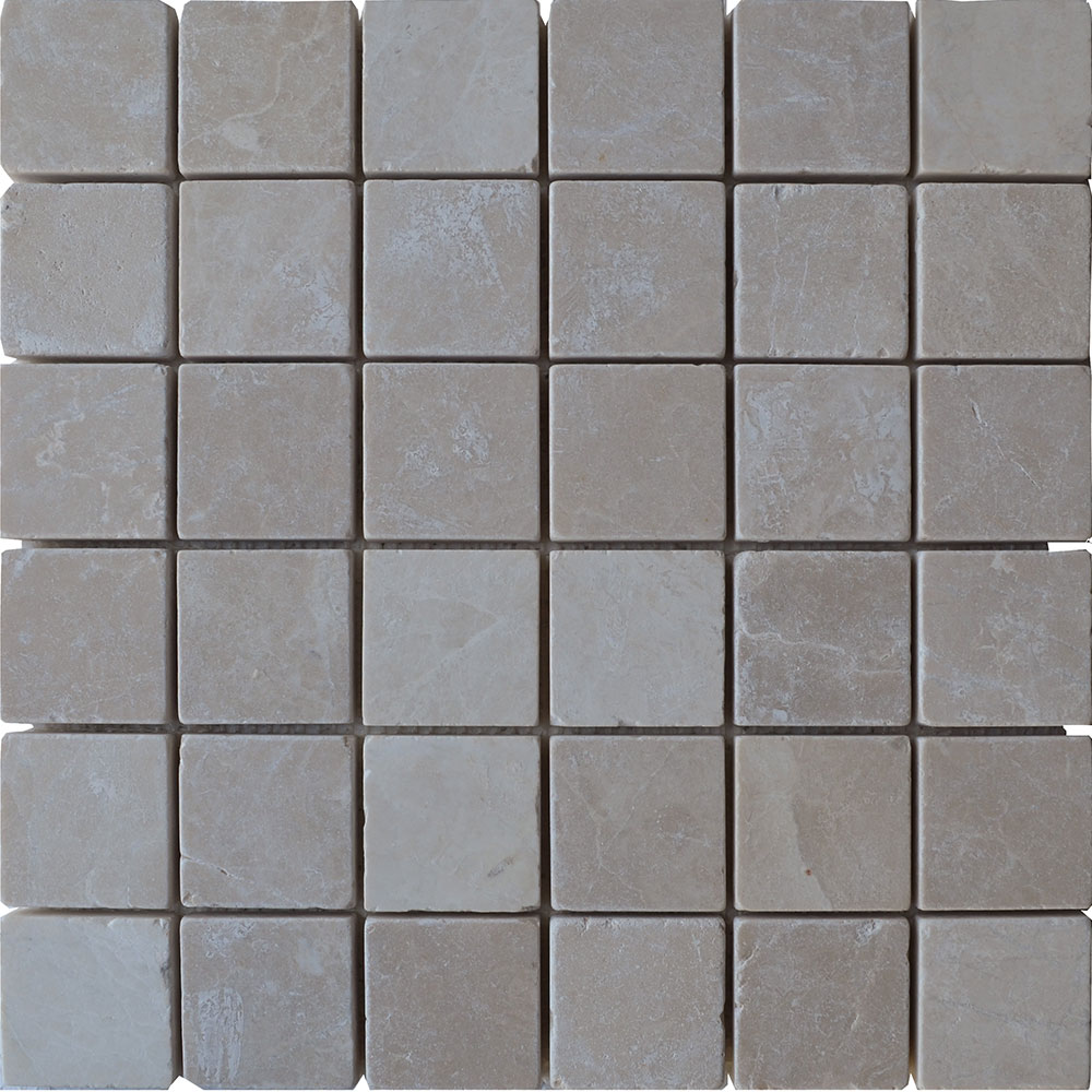 Atlantic Stone Source Mosaics Marble 2 x 2 Tumbled Botticino