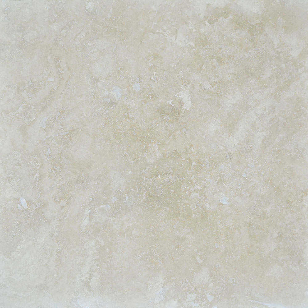 Atlantic Stone Source Travertine 24 x 24 Honed Filled Frig Light