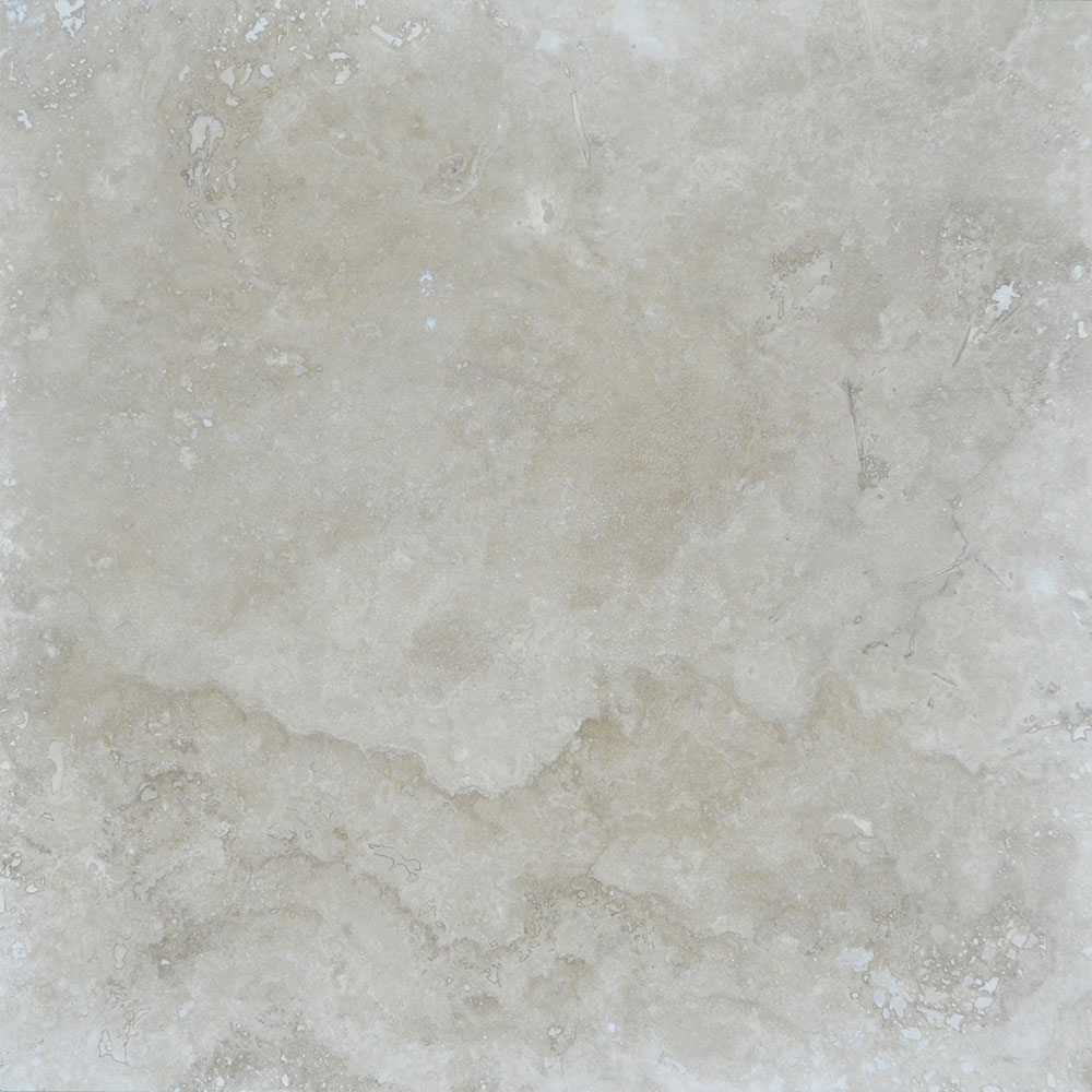 Atlantic Stone Source Travertine 24 x 24 Honed Filled Ivory Classic Light
