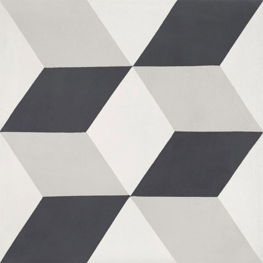 Bati Orient Cement Tiles Modern Decor 1 Off White Antracite