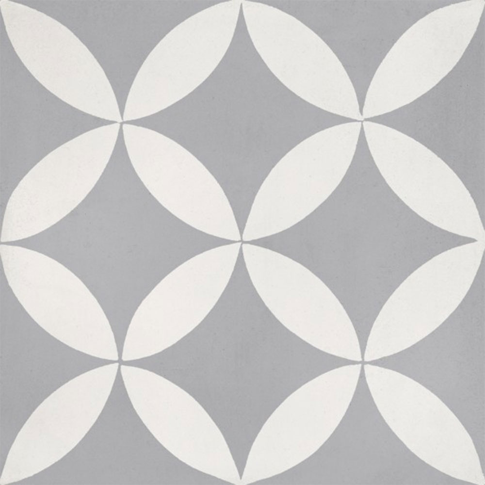 Bati Orient Cement Tiles Modern Decor 3 Dark Grey Off White