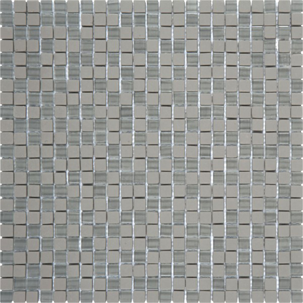 Bati Orient Glass Mini Square Mix Matte Gloss Grey