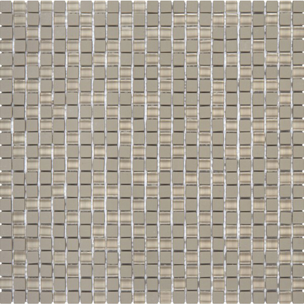 Bati Orient Glass Mini Square Mix Matte Glossy Taupe