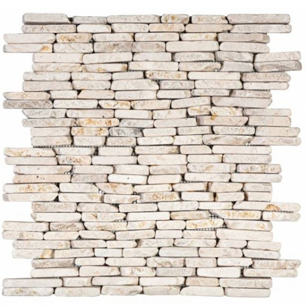 Bati Orient Marble Stacked Brick White