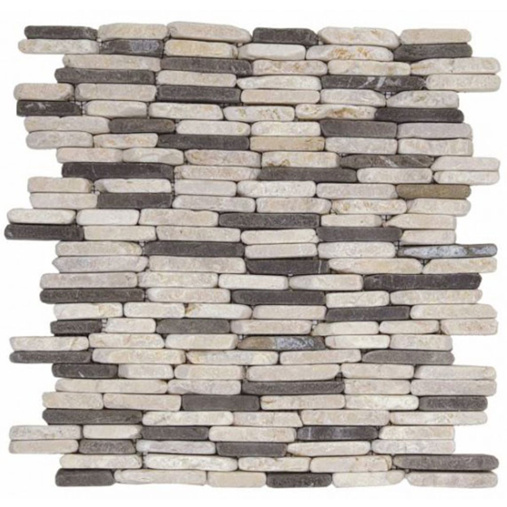 Bati Orient Marble Stacked Brick White Grey
