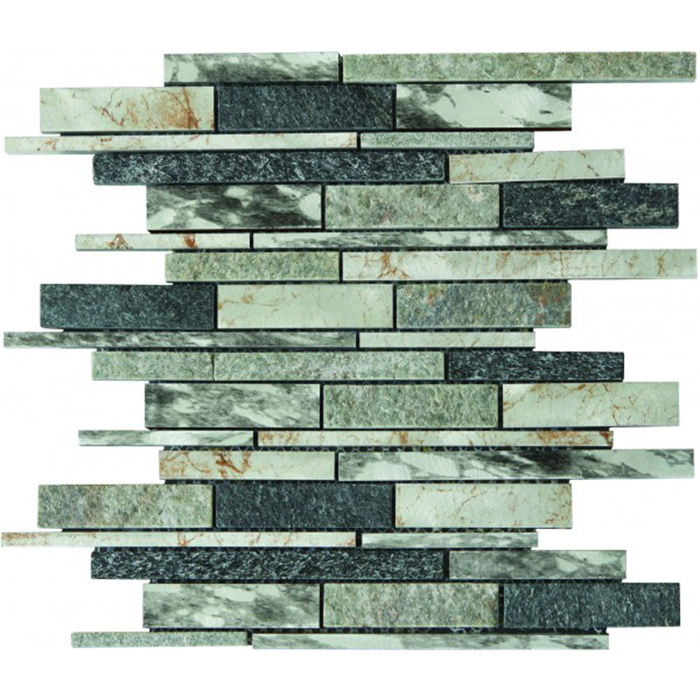 Bati Orient Mix Mosaic Baguette Stone Grey Beige Black Mix
