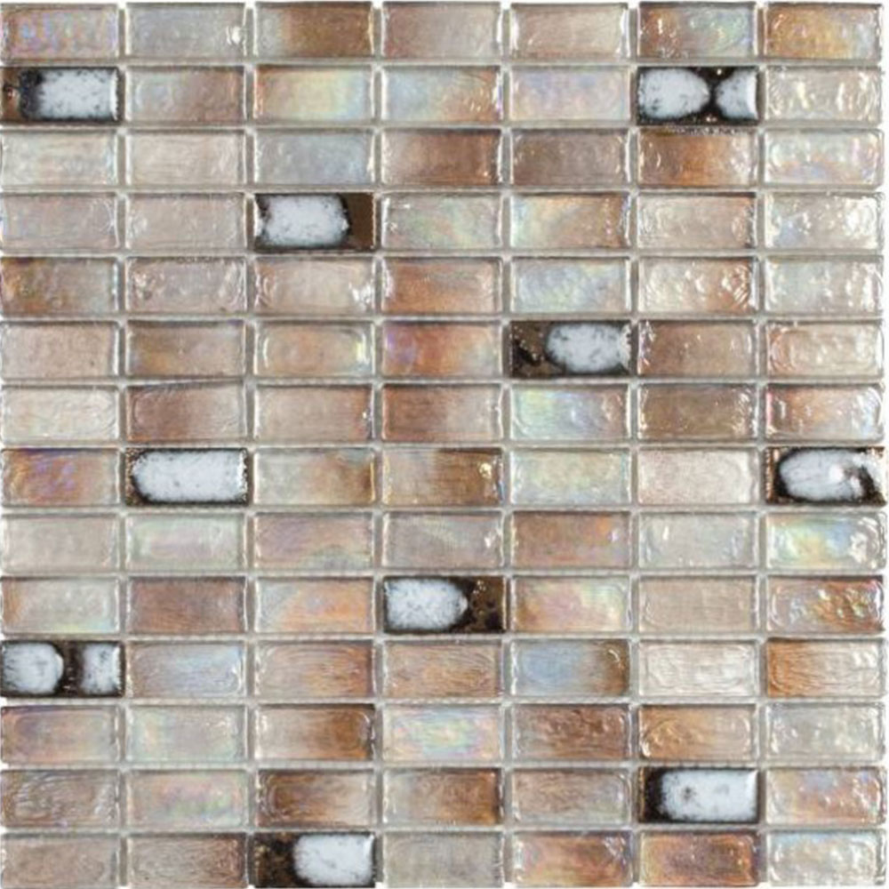 Bati Orient Mix Mosaic Brick 3/4 x 1 3/4 Beige Glass Ceramic Brick