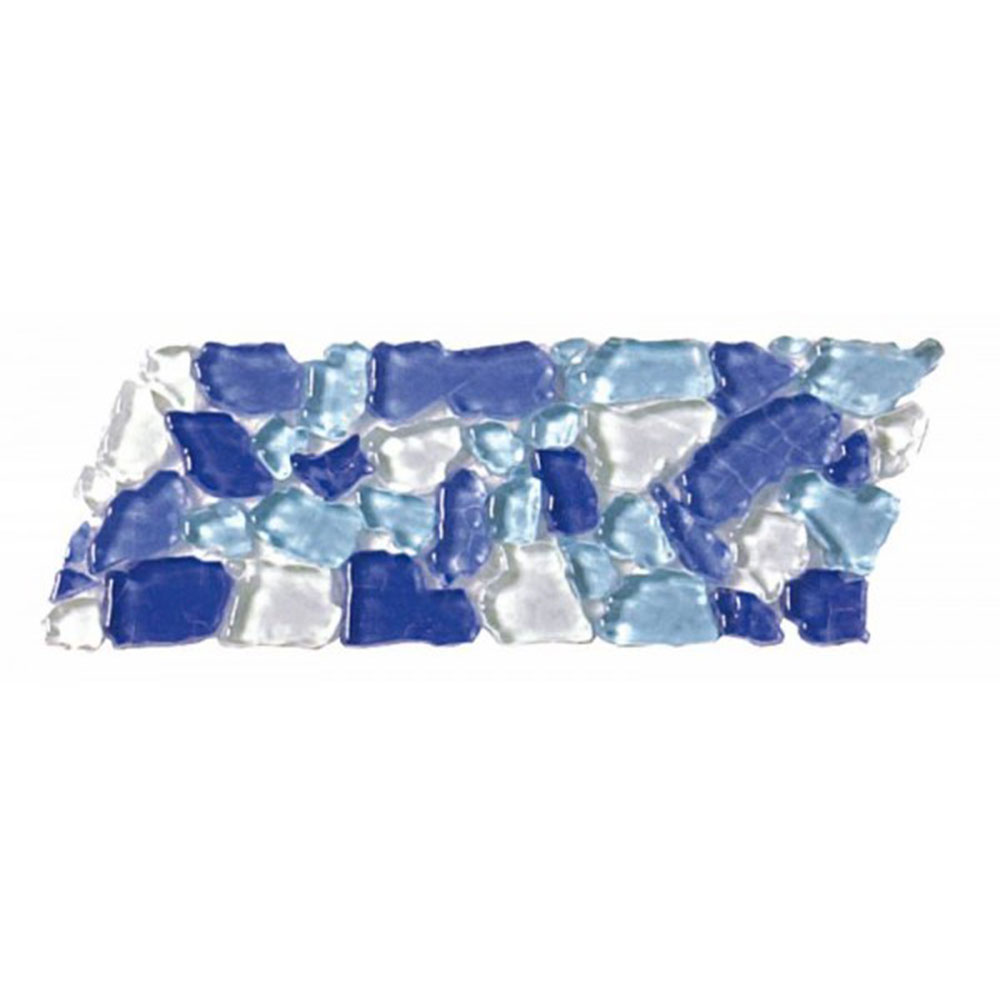 Bati Orient Opus Mosaic Glass Border Blue Light Blue White