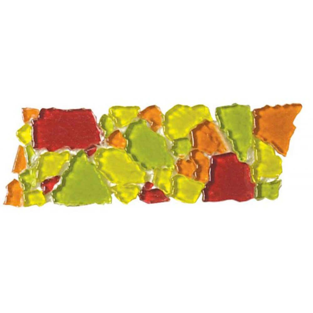 Bati Orient Opus Mosaic Glass Border Green Orange Red