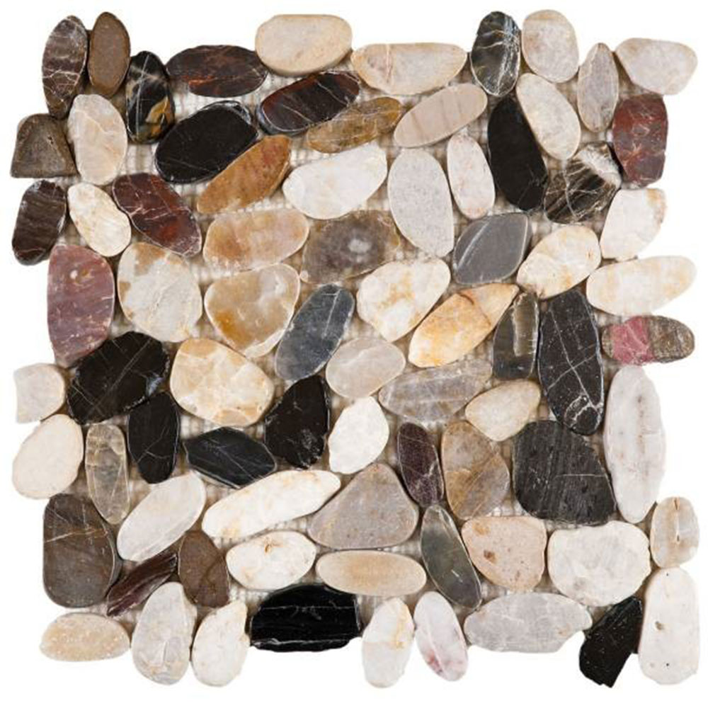 Bati Orient Pebbles Sliced Polished Mix