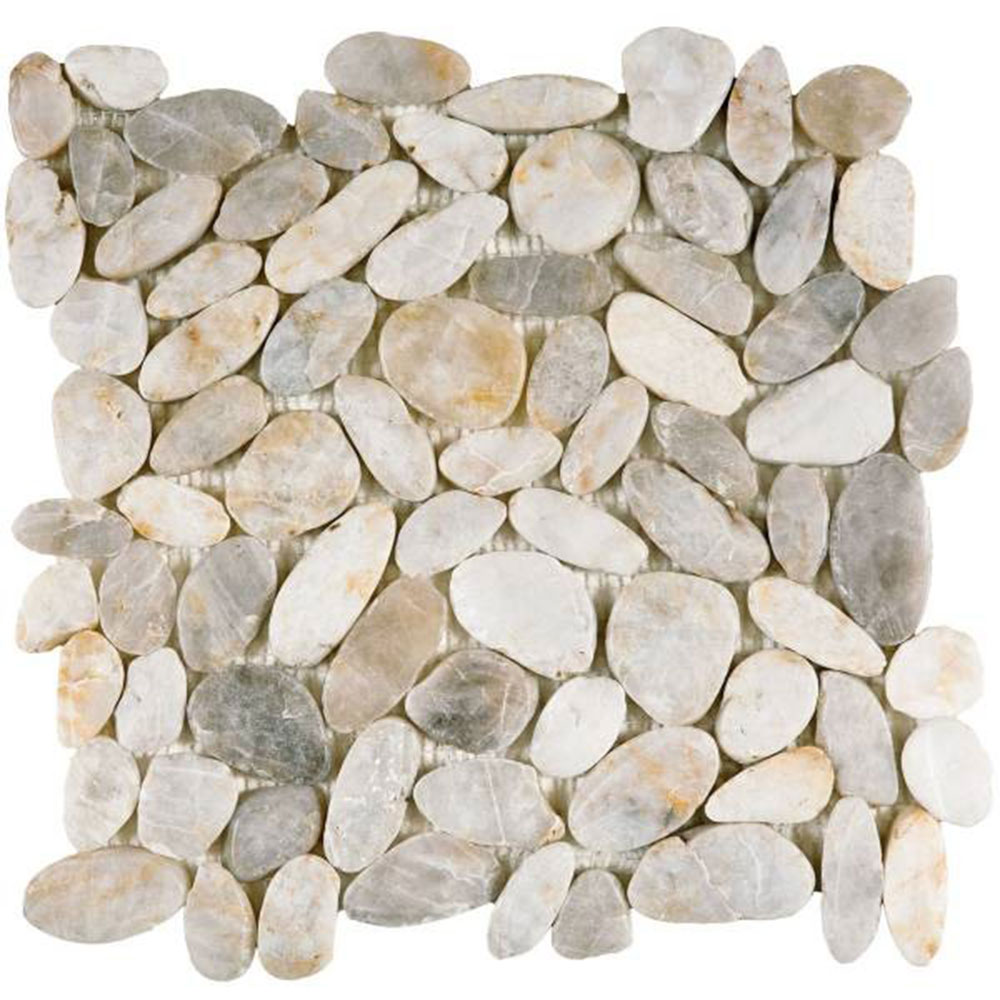 Bati Orient Pebbles Sliced Polished White