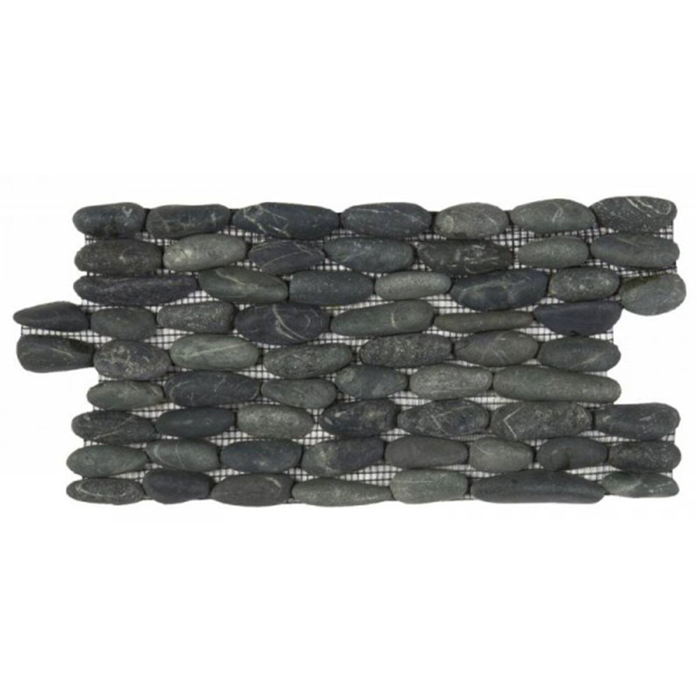 bati orient pebbles stacked wall black. Black Bedroom Furniture Sets. Home Design Ideas