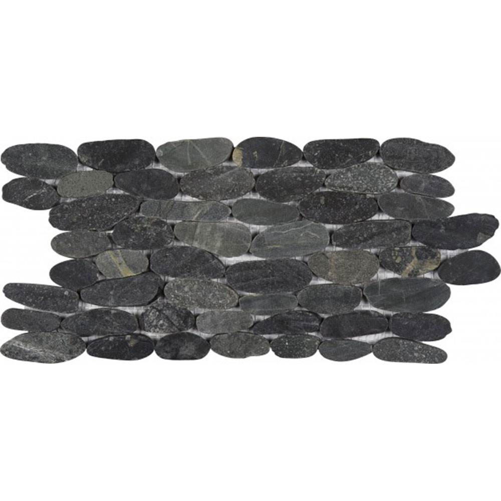 Bati Orient Pebbles Stacked Sliced Black