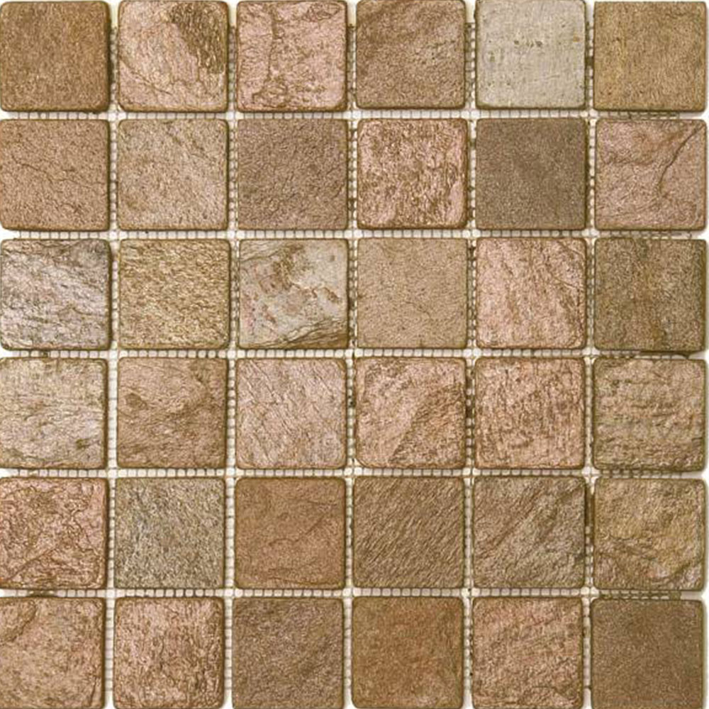Bati orient stone mosaic 2 x 2 tile stone colors bati orient stone mosaic 2 x 2 copper matte quartzite dailygadgetfo Gallery