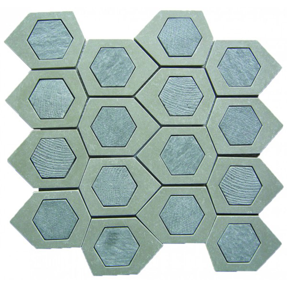 Bati Orient Stone Hexagon Irregular Beige Grey Stone Mix