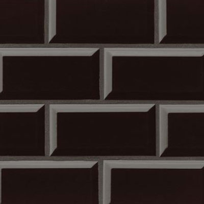 Bedrosians Traditions 3 x 6 Beveled Black