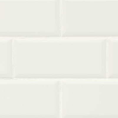 Bedrosians Traditions 4 x 10 Beveled Ice White