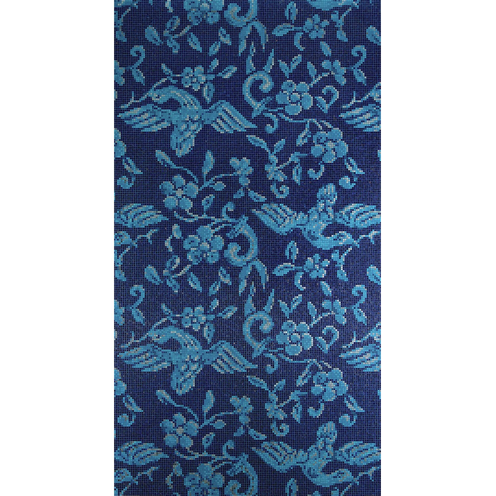 Bisazza Mosaico Decori 10 - China Birds Blue China Birds Blue