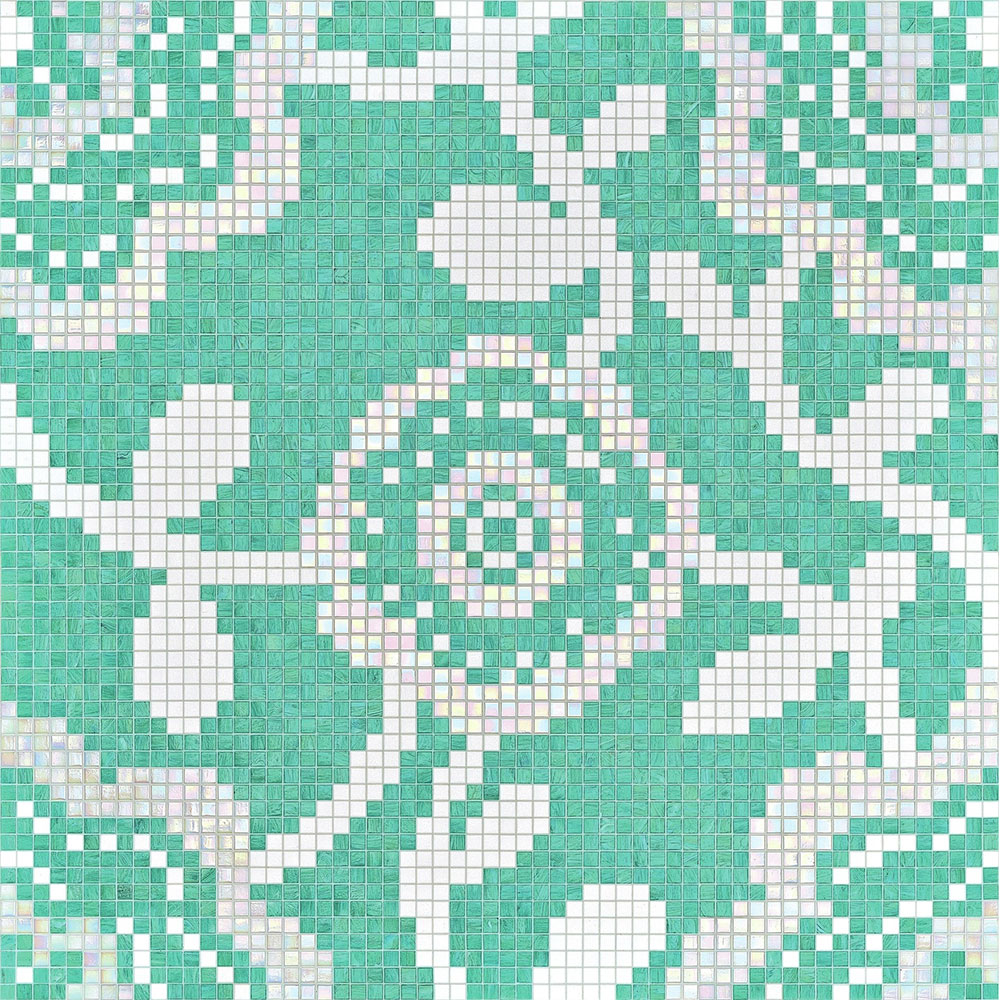 Bisazza Mosaico Decori 20 - Flower Carpet Flower Carpet Green