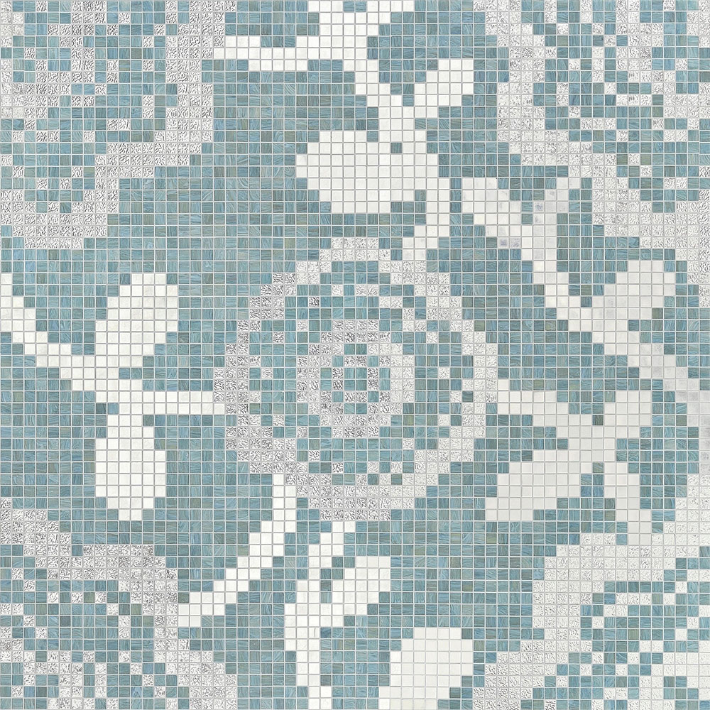 Bisazza Mosaico Decori 20 - Flower Carpet Flower Carpet Grey
