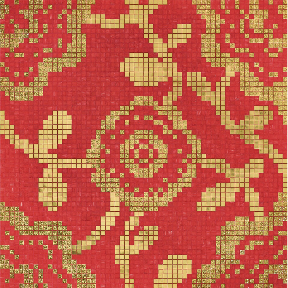 Bisazza Mosaico Decori 20 - Flower Carpet Flower Carpet Red